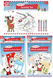 Christmas Activity Set of 3 including 2 advent activity books and a Christmas Colouring Set with 35 piece jigsaw puzzle 2 posters and 4 wax crayons