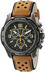 Timex Men's TW4B015009J Expedition Rugged Stainless Steel Watch with Brown Band