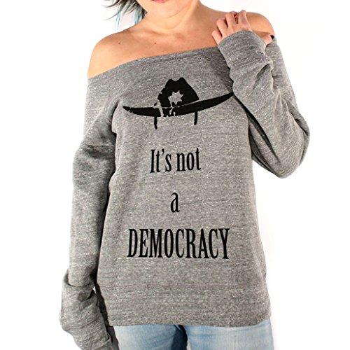Felpa Fashion RICK DEMOCRAZIA WALKING DEAD - FILM by Mush Dress Your Style - Donna-XL-Grgio Triblend