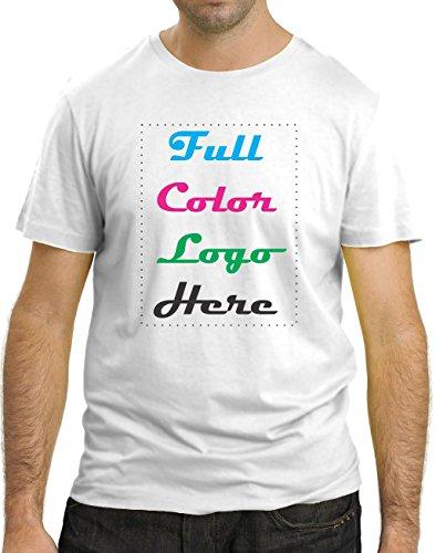 50 Custom Printed T-shirt + Full Color Logo/design - Mix and Match S-xl (L)