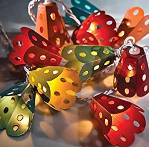 Luna Bazaar Multicolor Metal Lantern String Lights