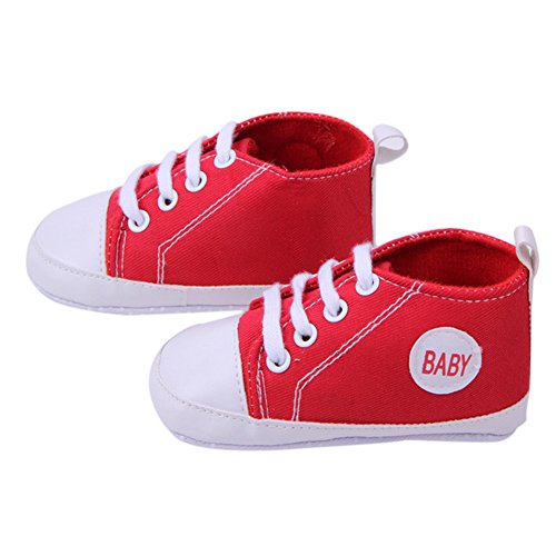 Hot Selling High Quality Multi-Color Newbron Softy Stylish Infant Baby Boy Girl Soleb Sneaker Toddler Shoes -Red 11cm