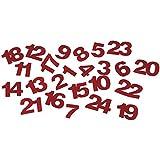 RAYHER - Filz-Nummer 1-24, 1,5 cm, SB-Btl. 24 Stück, rot