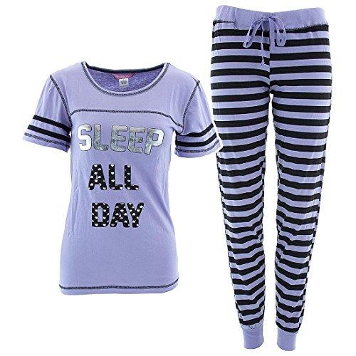 Lavender Sleep All Day Women 39 S Cotton Pajama Set M Apparel