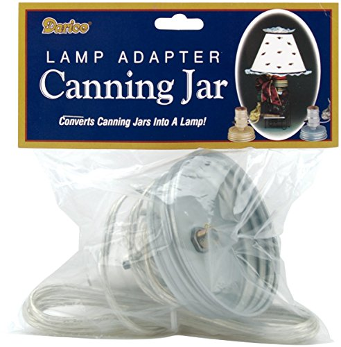 Darice Canning Jar Lamp Adapter with Silver Cord (Canning Jar Lamp Kit compare prices)