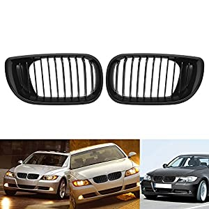 Matte Black Euro Front Upper Kidney Grille For 2002 2003 2004 2005 Bmw E46 3 Series 320 325 330 4d Pair from BMW Grille