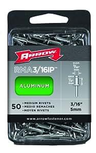 Arrow RMA3/16IP Medium Aluminum 3/16-Inch Rivets, 50-Pack