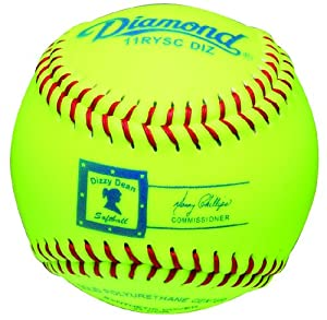 Buy Diamond 11-Inch Optic Super Synthetic Cover Dizzy Dean Softball, Dozen by Diamond Sports