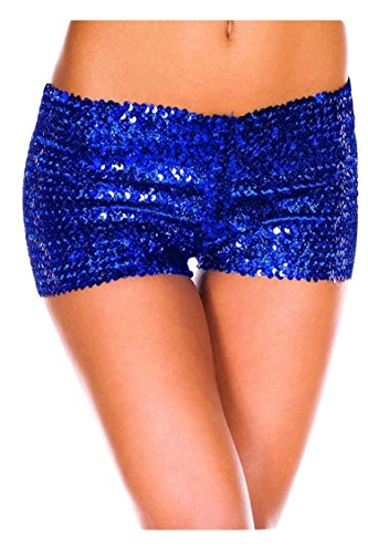 Sequin Booty Shorts Blue
