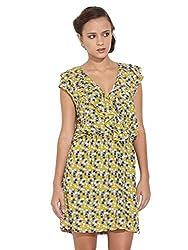 Remanika Women's A-Line Dress (FR-GAVIN1_Yellow_X-S)