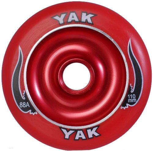 YAK Scat II Metal Core Wheel Red 110mm
