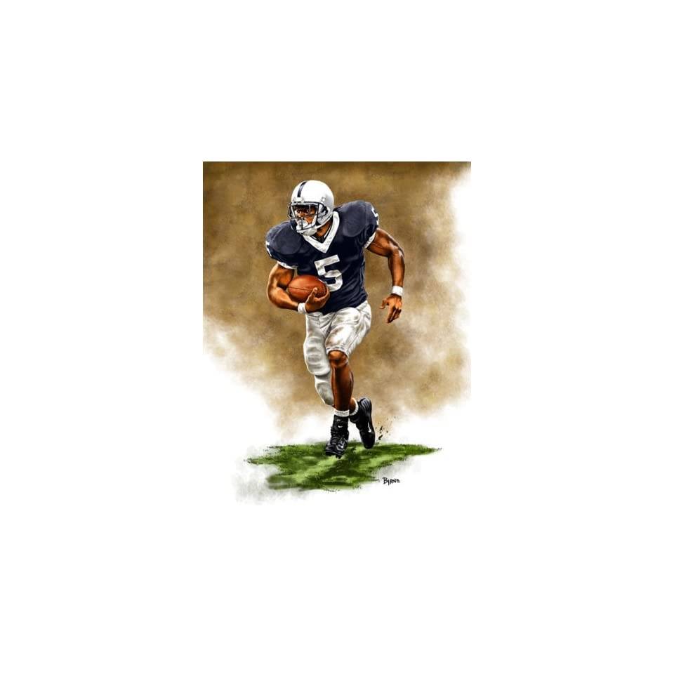 Large Larry Johnson Penn State Nittany Lions Giclee