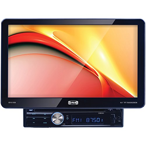 SSL SD10.1USA In-Dash Single-Din 10.1-inch Motorized Detachable Touchscreen DVD/CD/USB/SD/MP4/MP3 Player Receiver with Remote