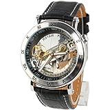 TODDCAHALAN Classic Symphony Aristocrat Bridge Automatic Skeleton Black Dial Mechanical Watch