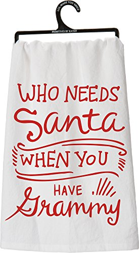 "Find Cheap Tea Towel - ""Who Needs Santa When You Have Grammy"""