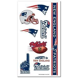 NFL New England Patriots Temporary Tattoos