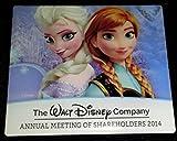 Disney Pin 100398: 2014 Walt Disney Company Shareholders Meeting - Anna and Elsa Frozen Pin