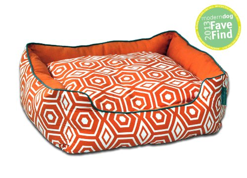 ez living home Honeycomb Couch Bed, Tangerine, S 24x21x8