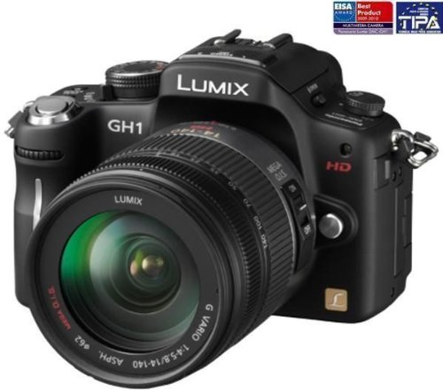 Panasonic Lumix DMC-GH1K Digital Camera with 14-140mm Lens Kit - Black