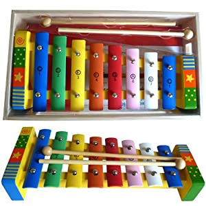 Bee Smart Wooden Xylophone for Children with Wooden Box
