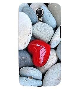 ColourCraft Heart in Stones Design Back Case Cover for SAMSUNG GALAXY MEGA 6.3 I9200
