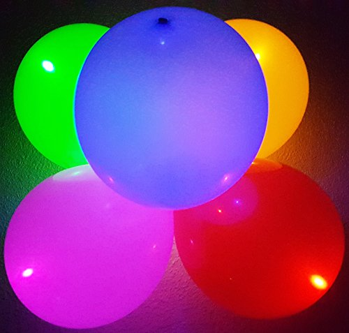 Flashing-Party-Balloons-5-Assorted-Colors-With-Different-LED-Light-Modes-Fast-Slow-Steady-Off-Great-for-House-Parties-Celebrations-and-Dance-Clubs