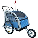 Aosom Elite 2in1 Double Child Bike Trailer / Jogger