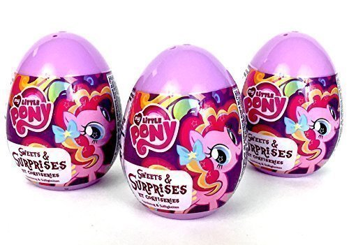 3 My Little Pony Surprise Eggs with Toy and Candy Inside. Exciting and Fun Toy By Bon Bon Buddies for Children As Seen in Unboxing and Unwrapping Videos on Youtube.