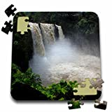 Sandy Mertens Hawaii Travel Designs - Rainbow Falls to the Wailuku River at Hilo, Hawaii in State Park - 10x10 Inch Puzzle (pzl_232766_2)