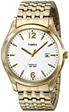 Timex Men's Goldtone Expansion Bracelet, White Dial - T2N849