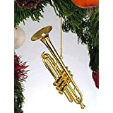 Gold Music Trumpet Musical Instrument Ornament NEW