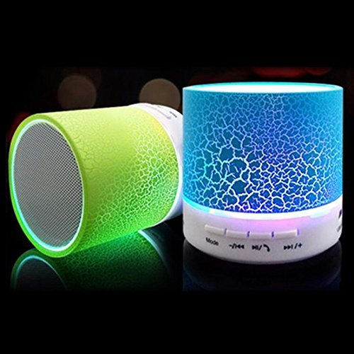 Rechargeable Bluetooth Speaker WITH LED Wireless Audio Receiver Outdoor, Home Theatre Portable USB MP3 Player Stereo Surround Loud Mini Radio Bluetooth Speaker Speakers with Light Support TF Card and Aux with MIC and Phone Call Receiving Feature Support 3.5 MM audio jack + Charging Cable