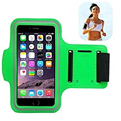 uFashion3C iPhone 6 Armband for Running, Sport Exercise Gym Arm band Sleeve Case for iPhone 6 4.7 inch with **Retailing Package** + Sweat Proof + Key Holder - 11 Colors(4.7