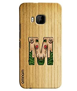 Omnam Single Name Stylish Alphabet M Printed Designer Back Cover Case For HTC One M9