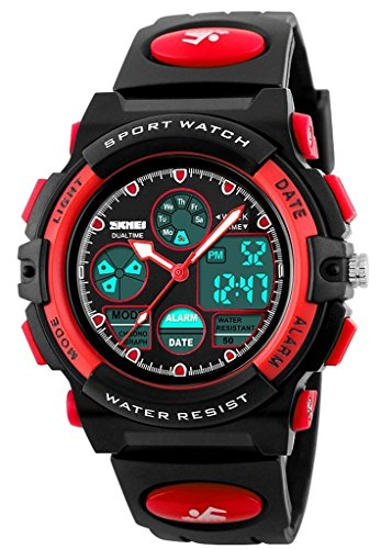 downj-childrens-led-digital-quartz-boy-and-girl-student-multifunctional-waterproof-wristwatches-red