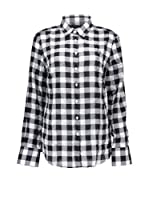 Fred Perry Camisa Mujer (Negro / Blanco)