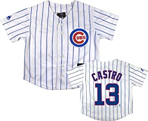 Starlin Castro Chicago Cubs Infant Home White Replica Jersey