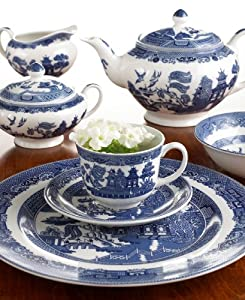 Johnson Bros. Blue Willow Cereal Bowls