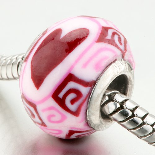 Pugster® Bead Red Heart Charm Bead Fits Pandora Beads