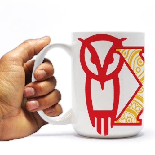 Chi Omega 15Oz Coffee Mug - Paisley Print Greek Letters