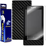 ArmorSuit MilitaryShield Sony F Series Walkman MP3 NWZ-F805 / NWZ-F806 Screen Protector Shield + Black Carbon Fiber Film Protector and Lifetime Replacements