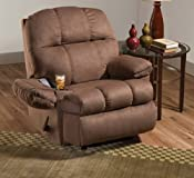Amazon.com: Simmons Truffle Micro Fiber Fabric Massage Recliner With Cup Holder: Home & Kitchen
