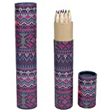 Natural Wood Colours Pencils Full Size Blue Pink