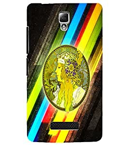PrintDhaba Abstract Design D-5624 Back Case Cover for LENOVO A2010 (Multi-Coloured)