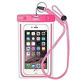 iPhone6/Samsung 防水ケース EOTW® 防水携帯ケース 救助用ネックストラップ付属 IPX8 ピンク