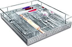 Now & Ever Stainless Steel Perforated Cutlery Basket, 15x20x4 inches, Silver, 1-piece