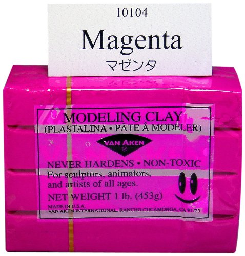 Van Aken Plastalina Modeling Clay 1 lb. bar magenta