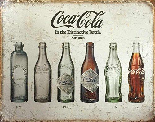 アメリカン メタル サイン プレート コカ・コーラ Coca-Cola Bottle Evolutions アメリカン雑貨 コカコーラ グッズ アメリカ 雑貨 インテリア ブリキ 看板 メタルプレート サインプレート メタルサイン [並行輸入品]