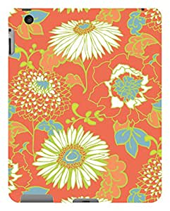 Koveru Designer Printed Protective Snap-On Durable Plastic Back Shell Case Cover for Apple iPad 2 - Flower Design