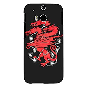 Jugaaduu Game Of Thrones GOT House Lannister Back Cover Case For HTC One M8